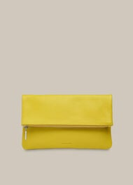 Chapel Foldover Clutch Lime
