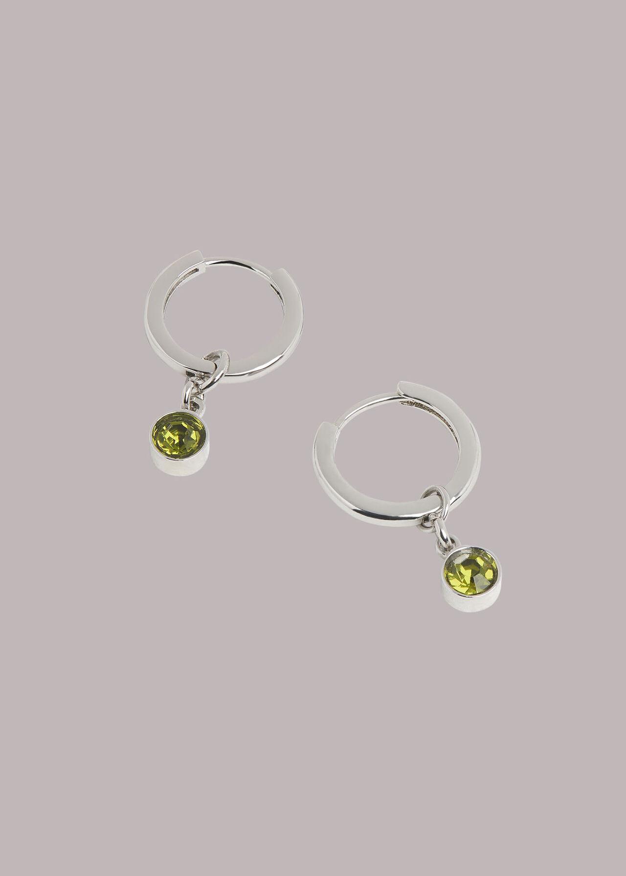Gem Drop Mini Hoop Earring