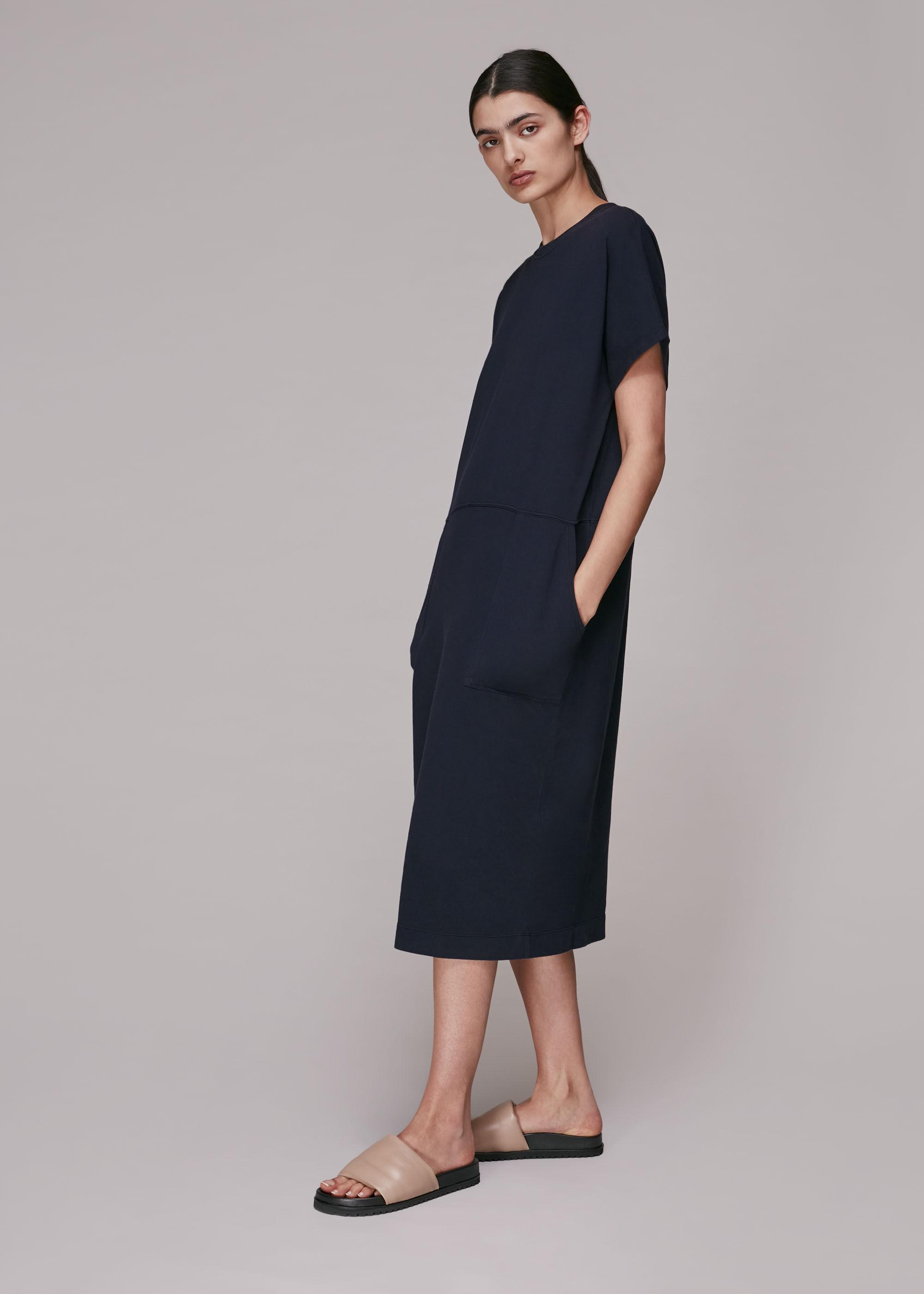 Whistles Women Elsie Button Back Jersey Dress
