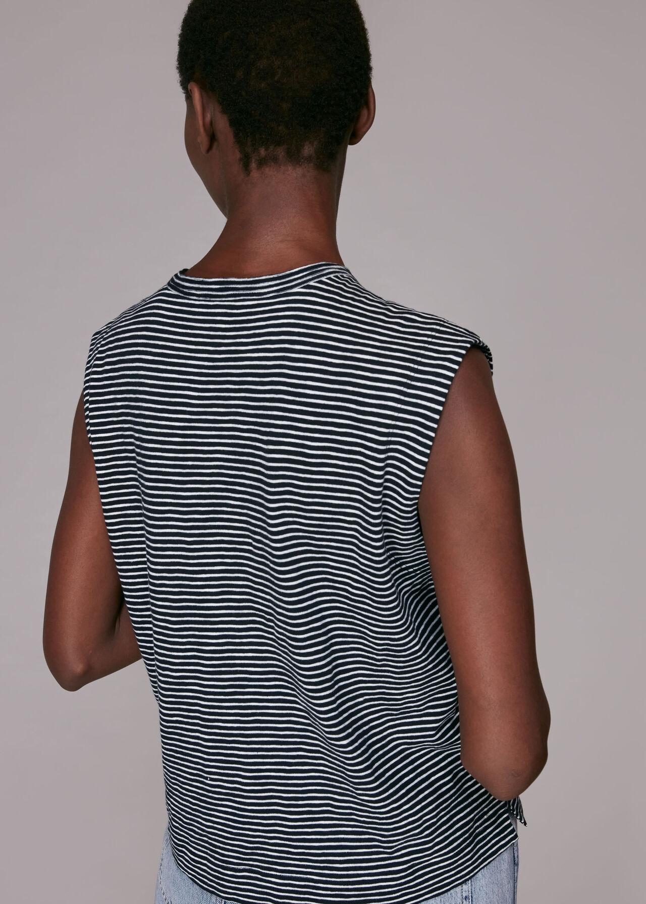 Stripe Muscle Vest Top