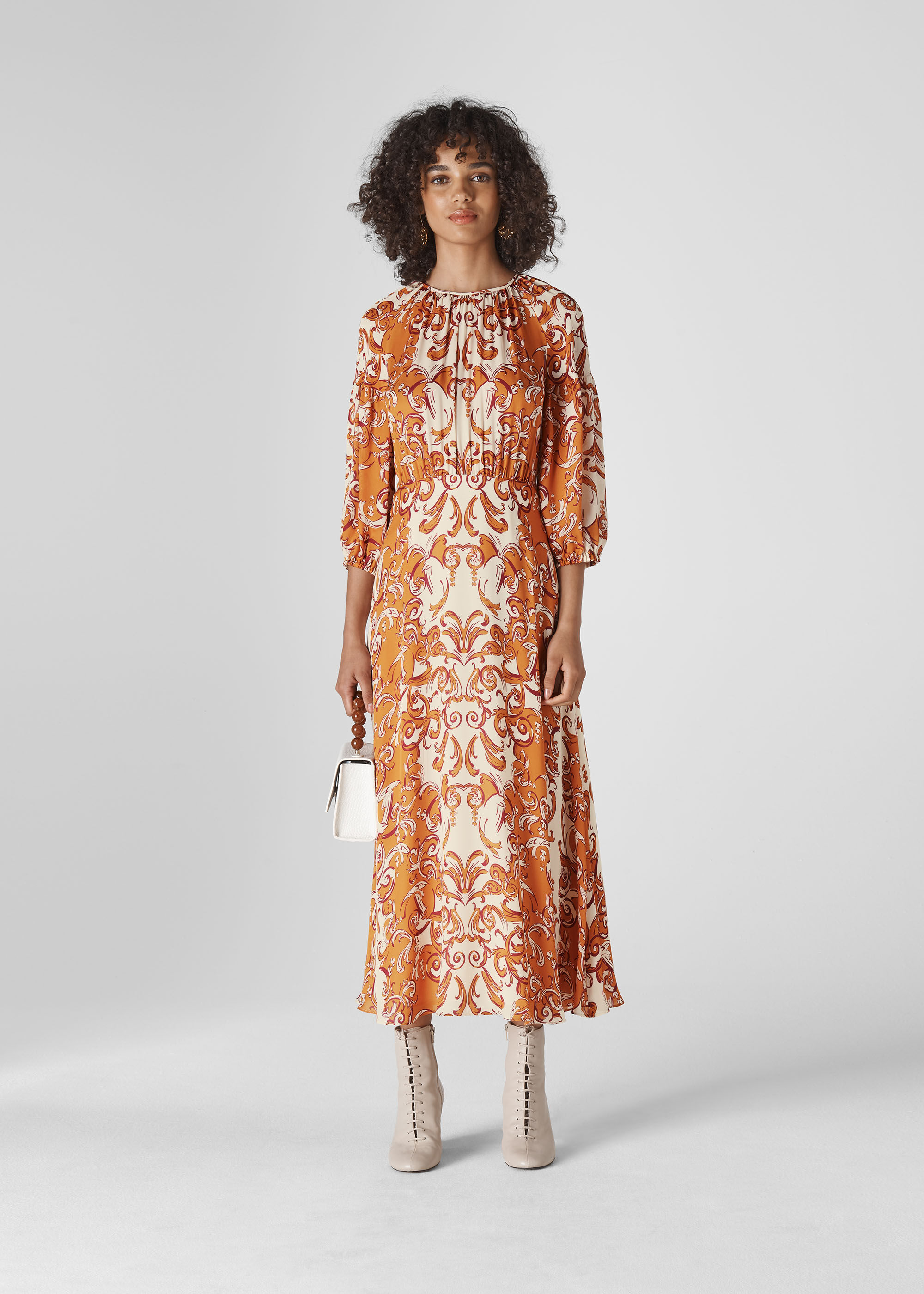 Whistles Women Baroque Print Silk Dress