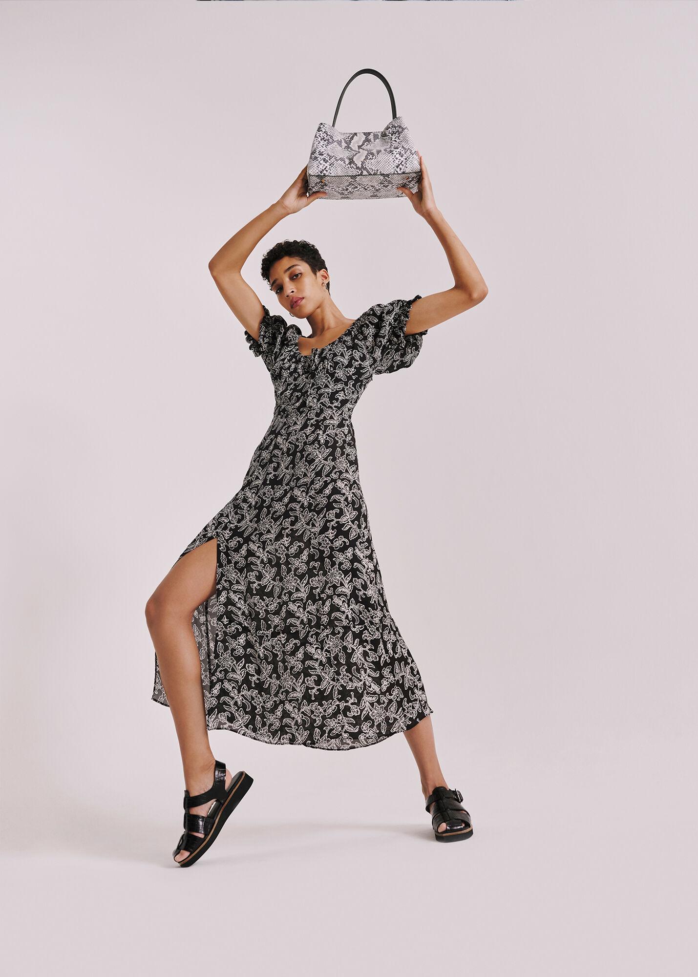 Jasmine Print Silk Dress