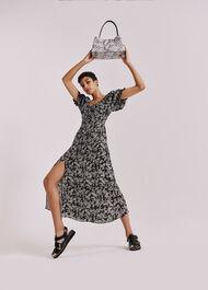 Jasmine Print Silk Dress Black/Multi