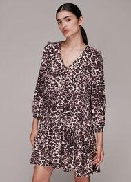 Clouded Leopard Collar Dress