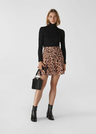 Brushed Cheetah Flippy Skirt Leopard Print