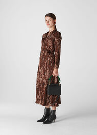 Elfrida Reed Shirt Dress Brown/Multi