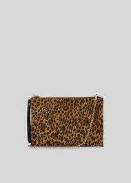 Hampton Chain Leopard Pouch Leopard Print