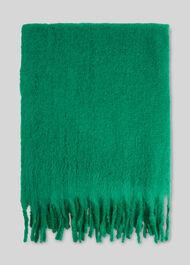 Open Weave Blanket Scarf Green