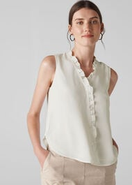 Maddie Frill Top Ivory