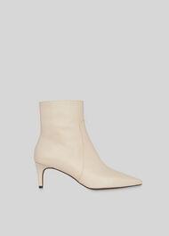 Celia Kitten Heel Boot Stone