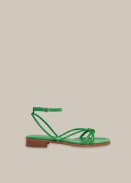 Roya Flat Strappy Sandal Green