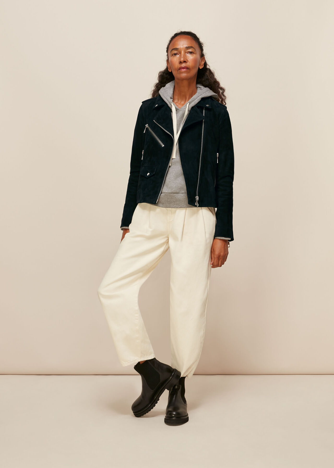 Suede Agnes Leather Jacket