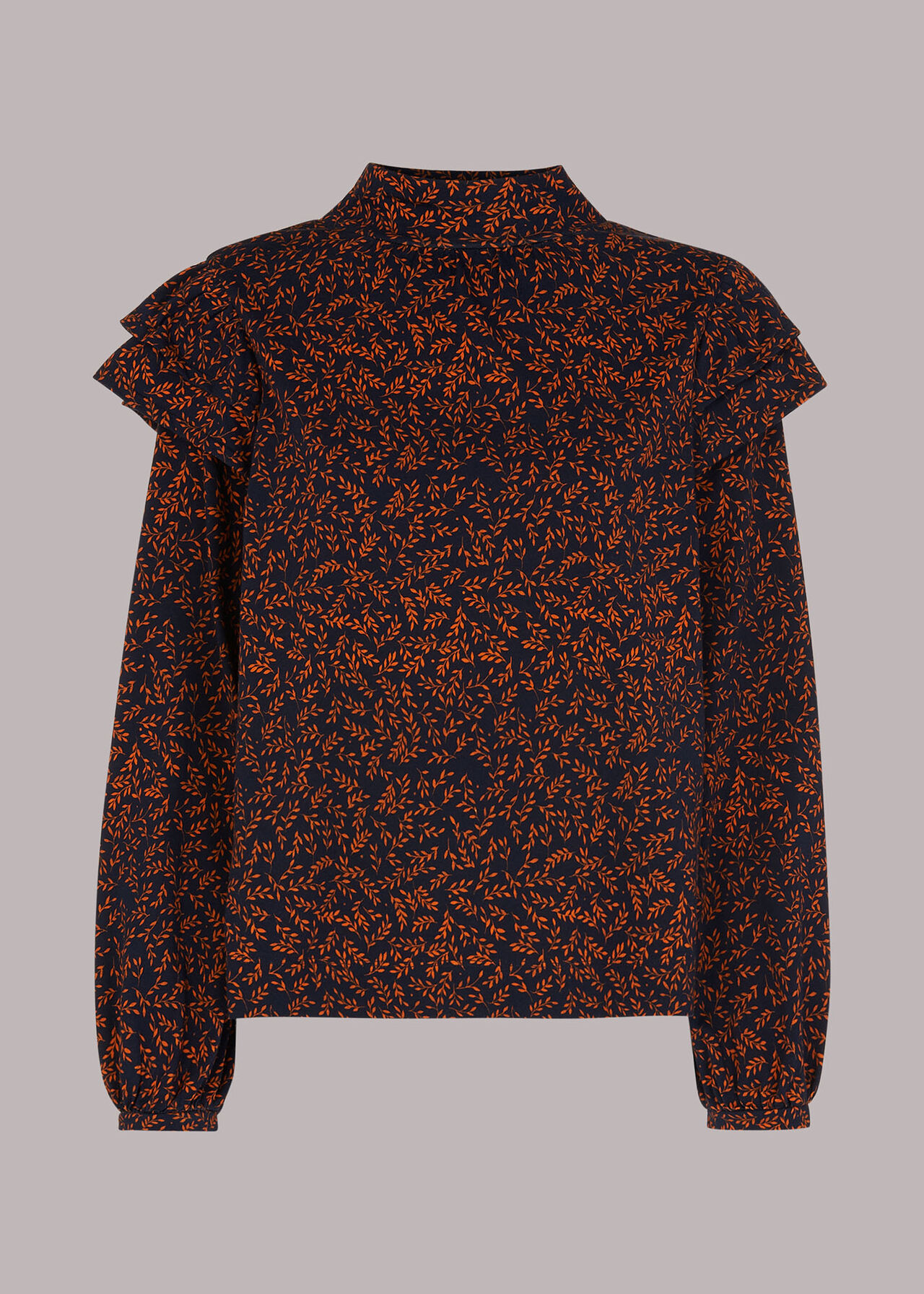 Autumn Leaves High Neck Top