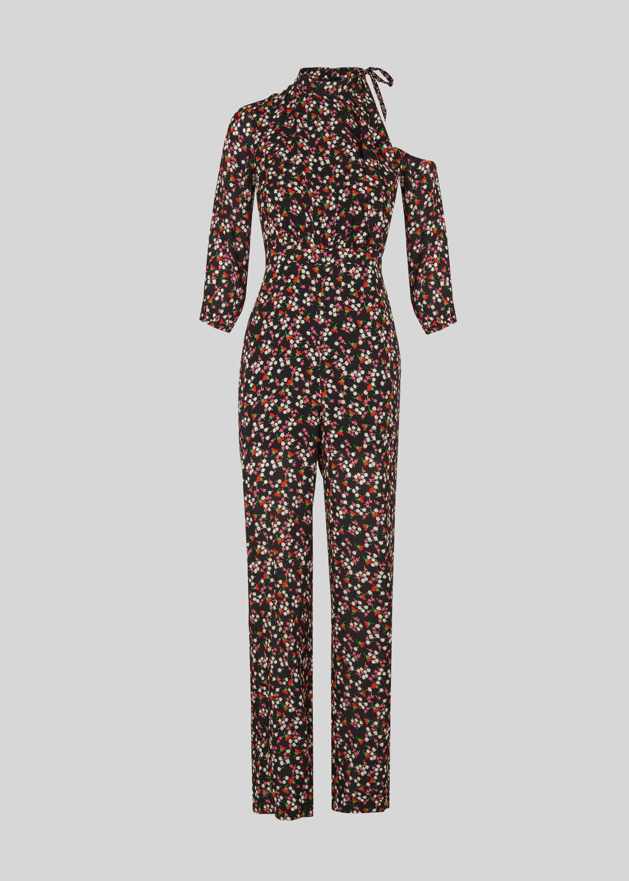 Peony Cut Out Silk Jumpsuit