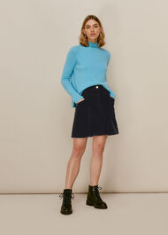 Cord A Line Skirt Black