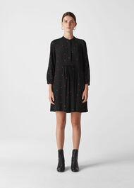 Mia Heart Print Dress Black/Multi