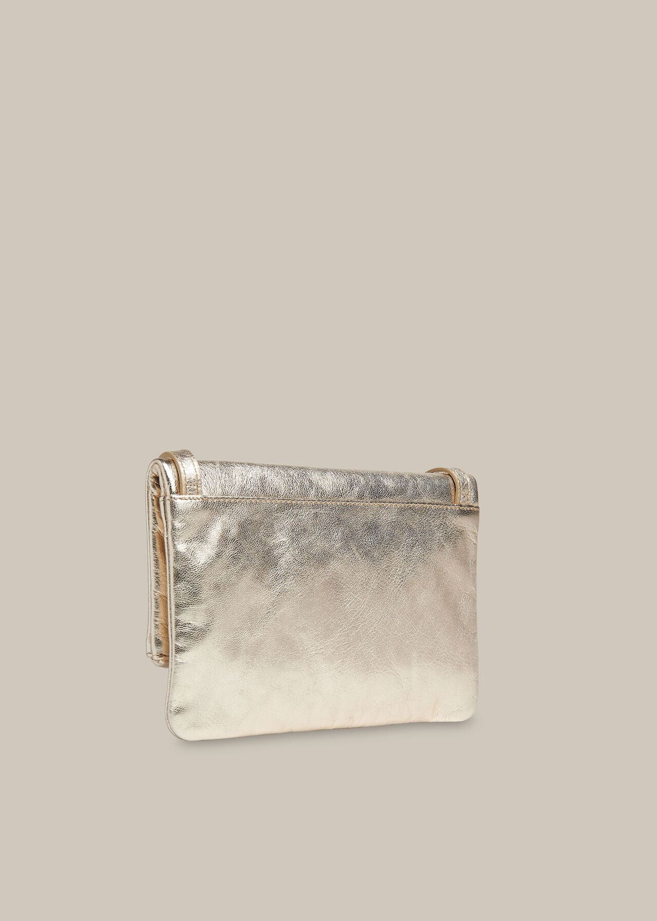 Issy Mini Foldover Bag Gold/Multi