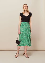 Blot Animal Frill Skirt