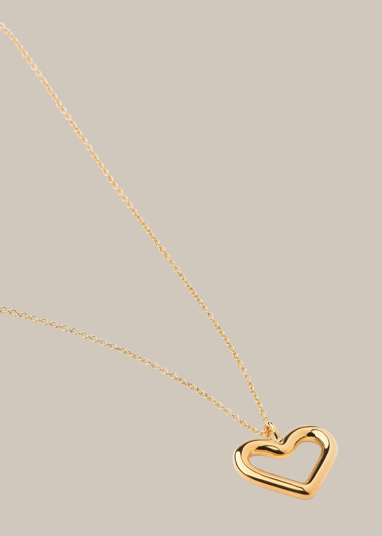 Tubular Heart Necklace