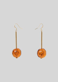 Resin Sphere Drop Earring Brown/Multi