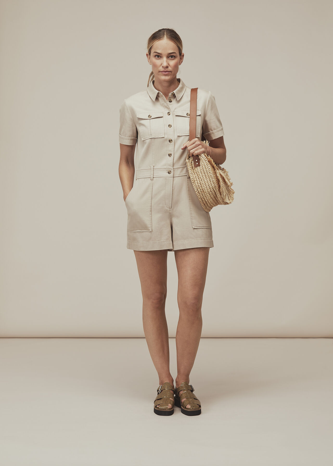 Leith Utility Twill Playsuit