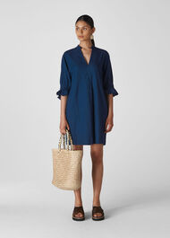 Sonia Frill Cuff Dress Denim