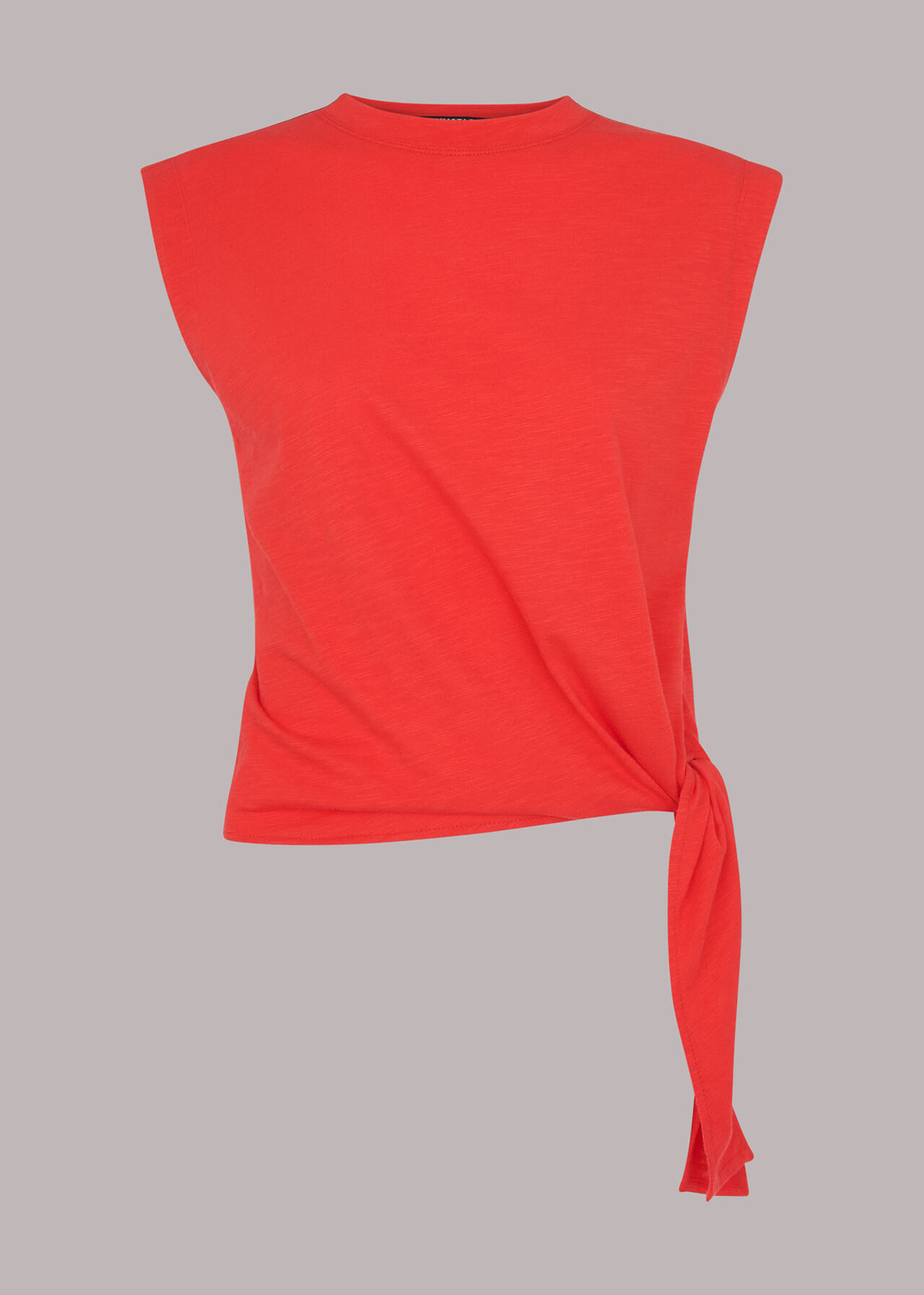 Sleeveless Tie Side Top