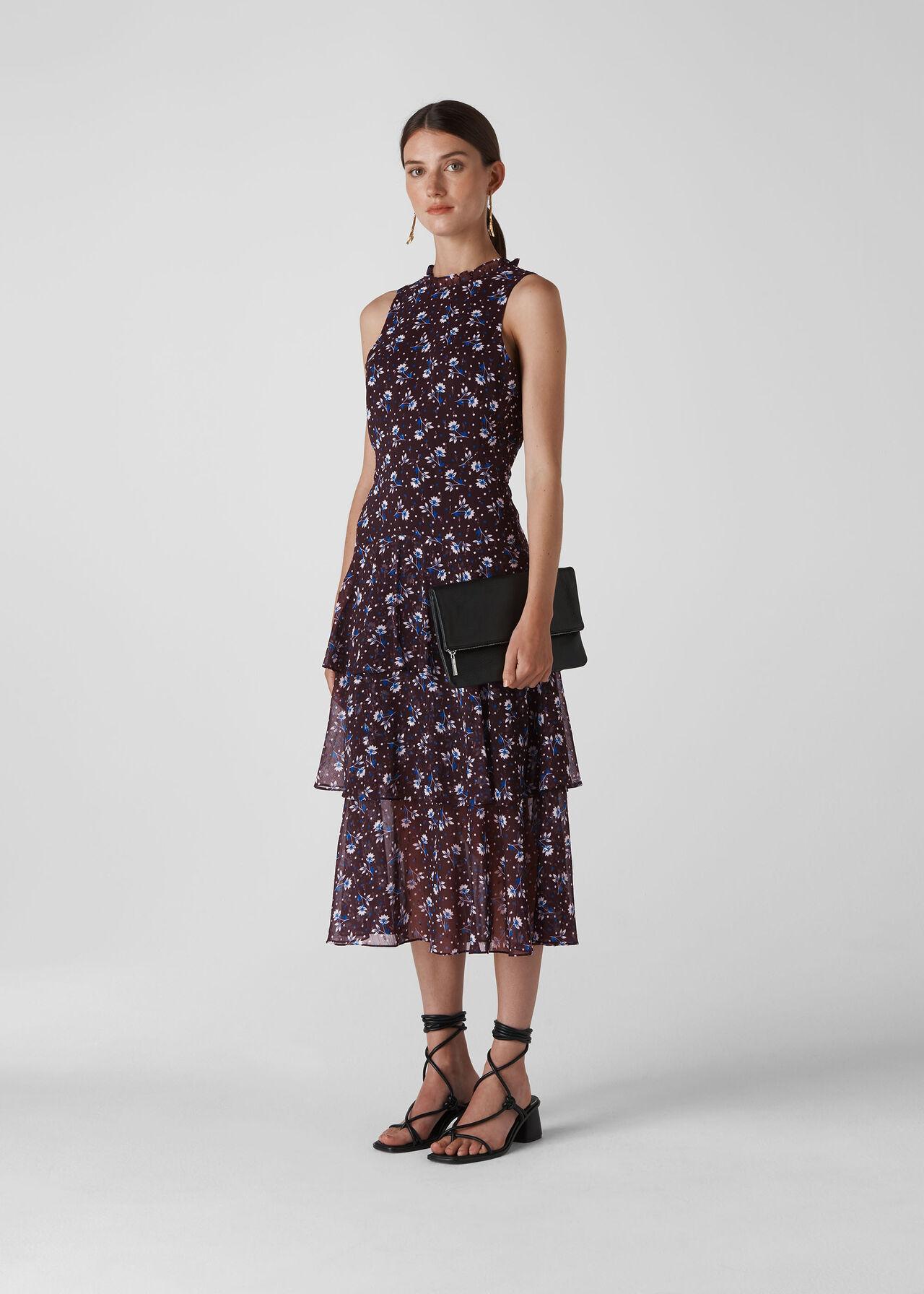 Tiered Dress Multicolour