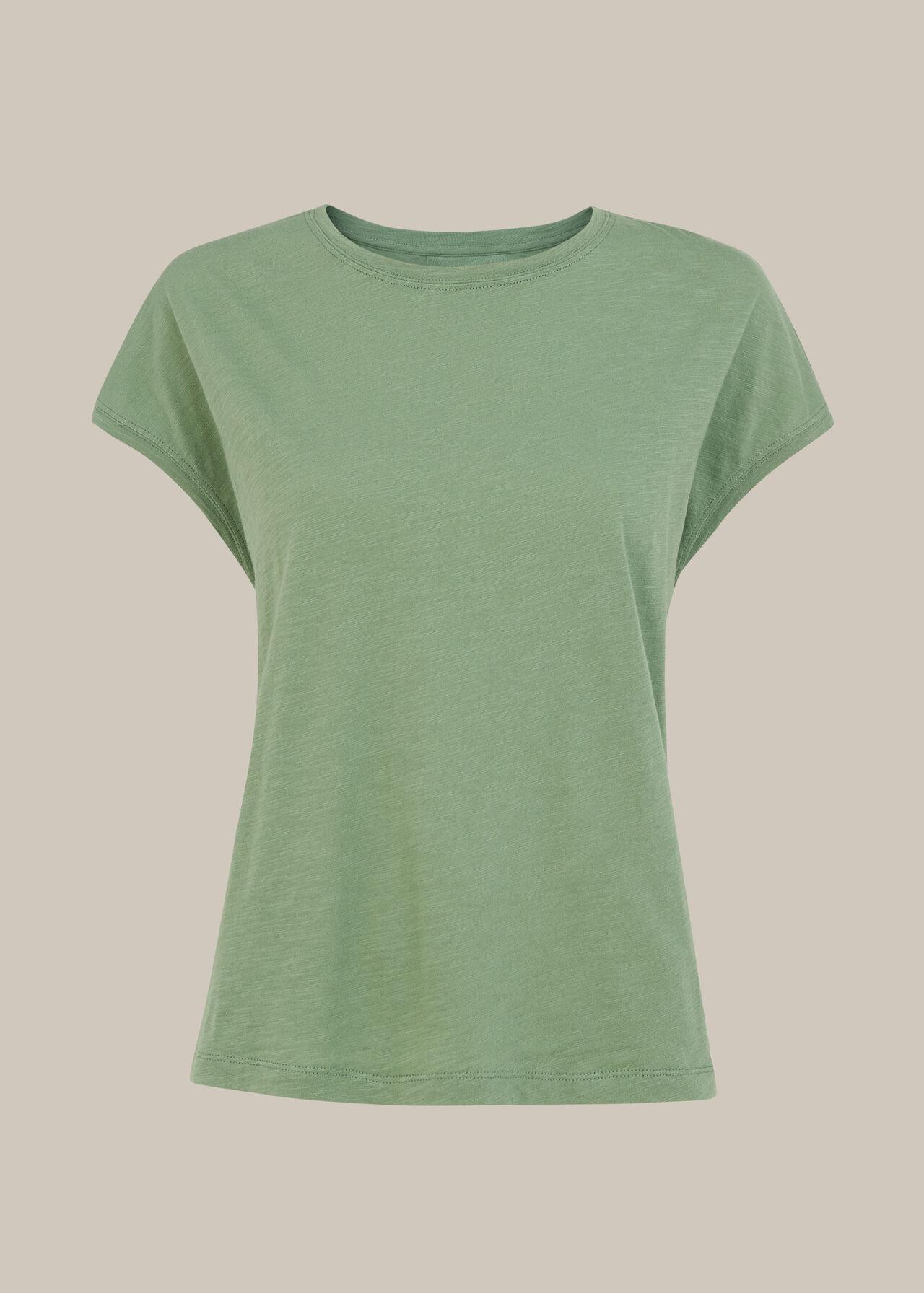 Minimal Cap Sleeve Tee Pale Green