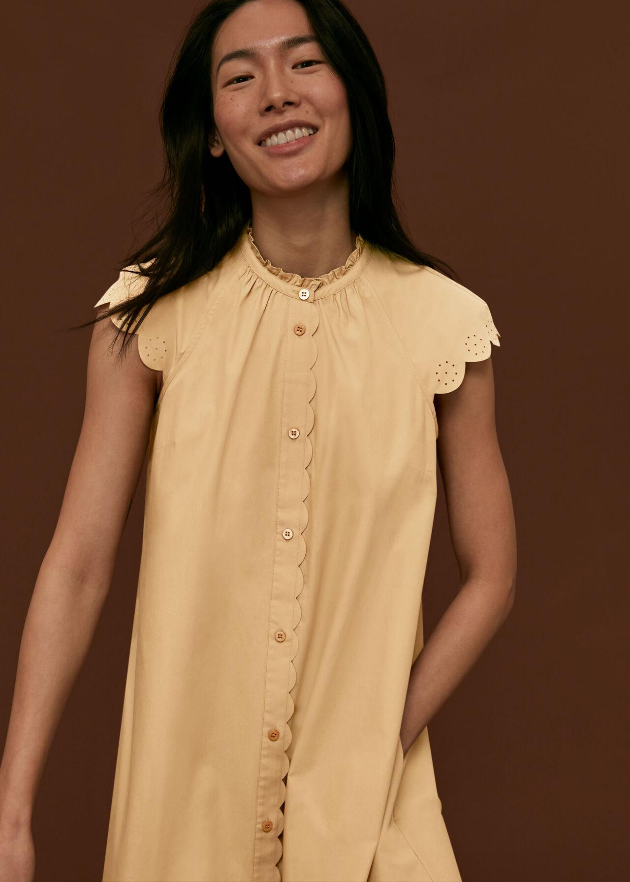 Elsie Broderie Shirt Dress