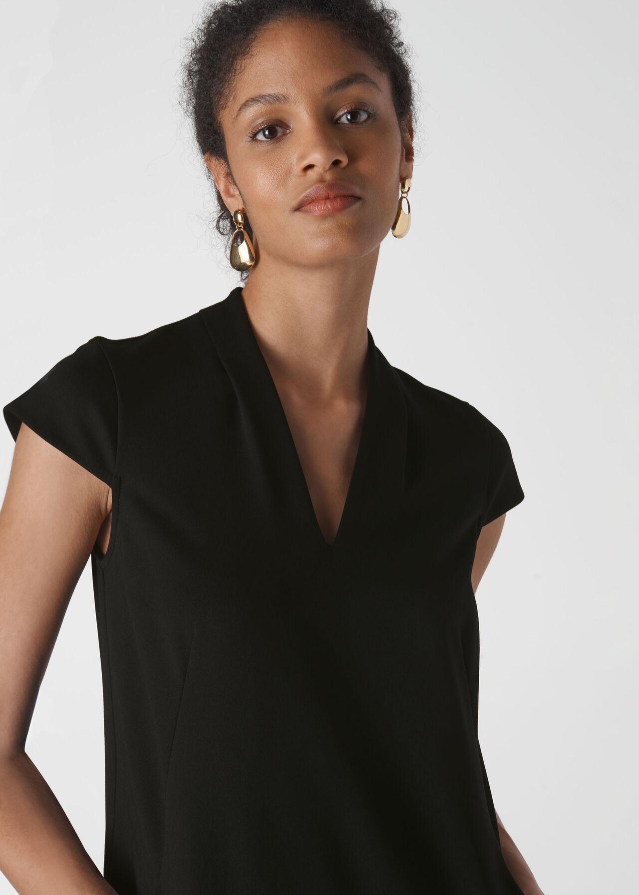 Ponte Jersey Paige Dress Black