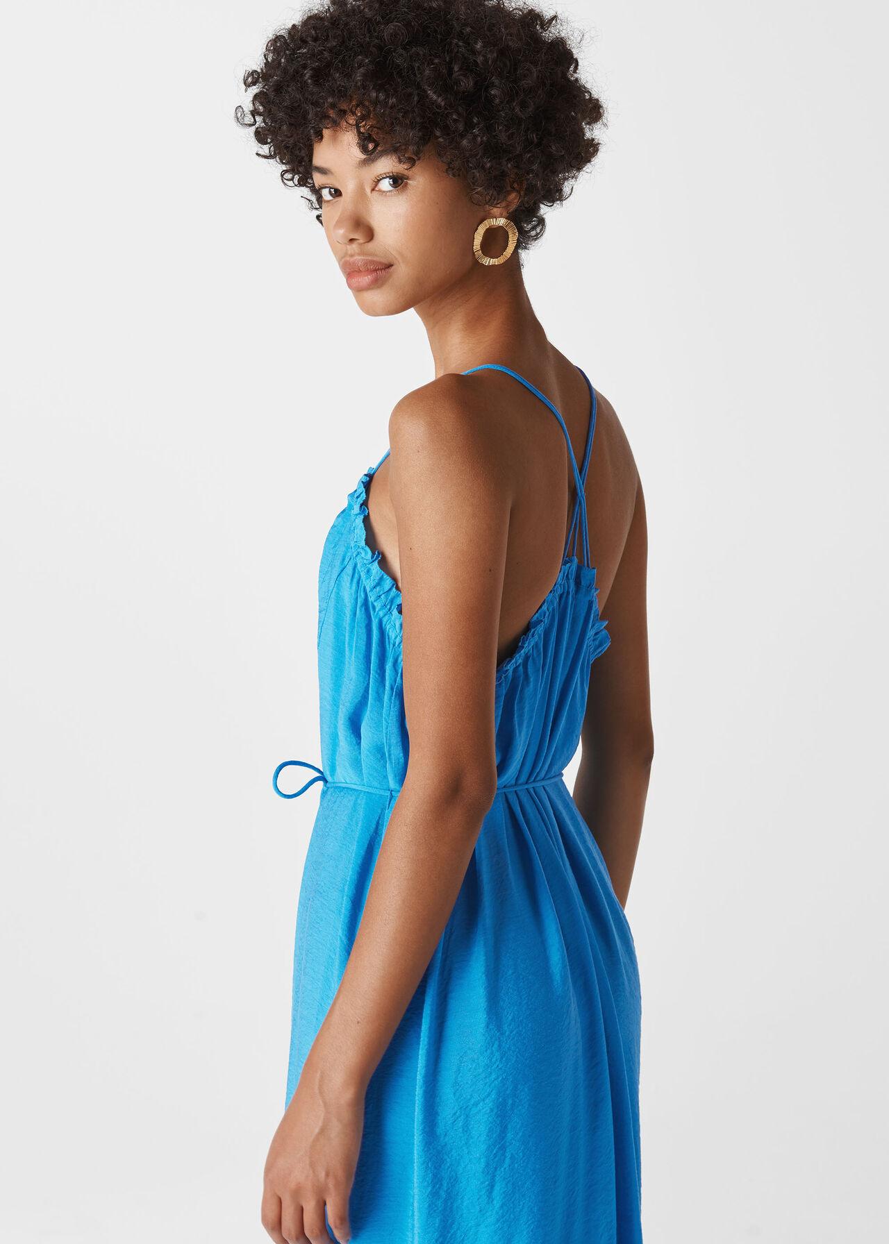 Salina Longline Maxi Dress Blue