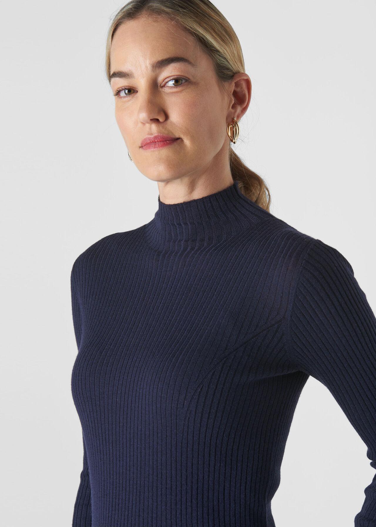 Carmen Silk Mix Knit Navy