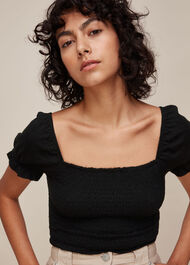 Bex Rouched Frill Top