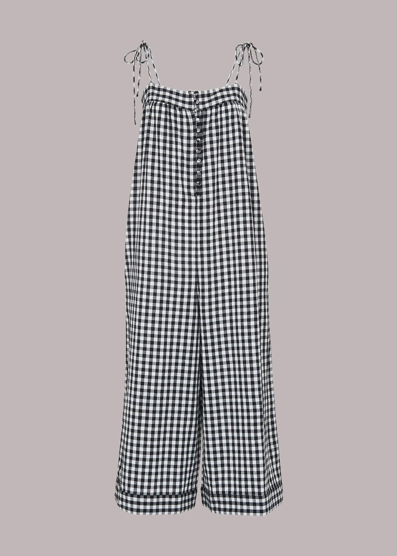 Penny Tie Gingham Jumpsuit
