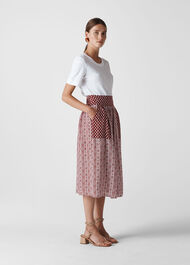 Woodblock Print Skirt Multicolour