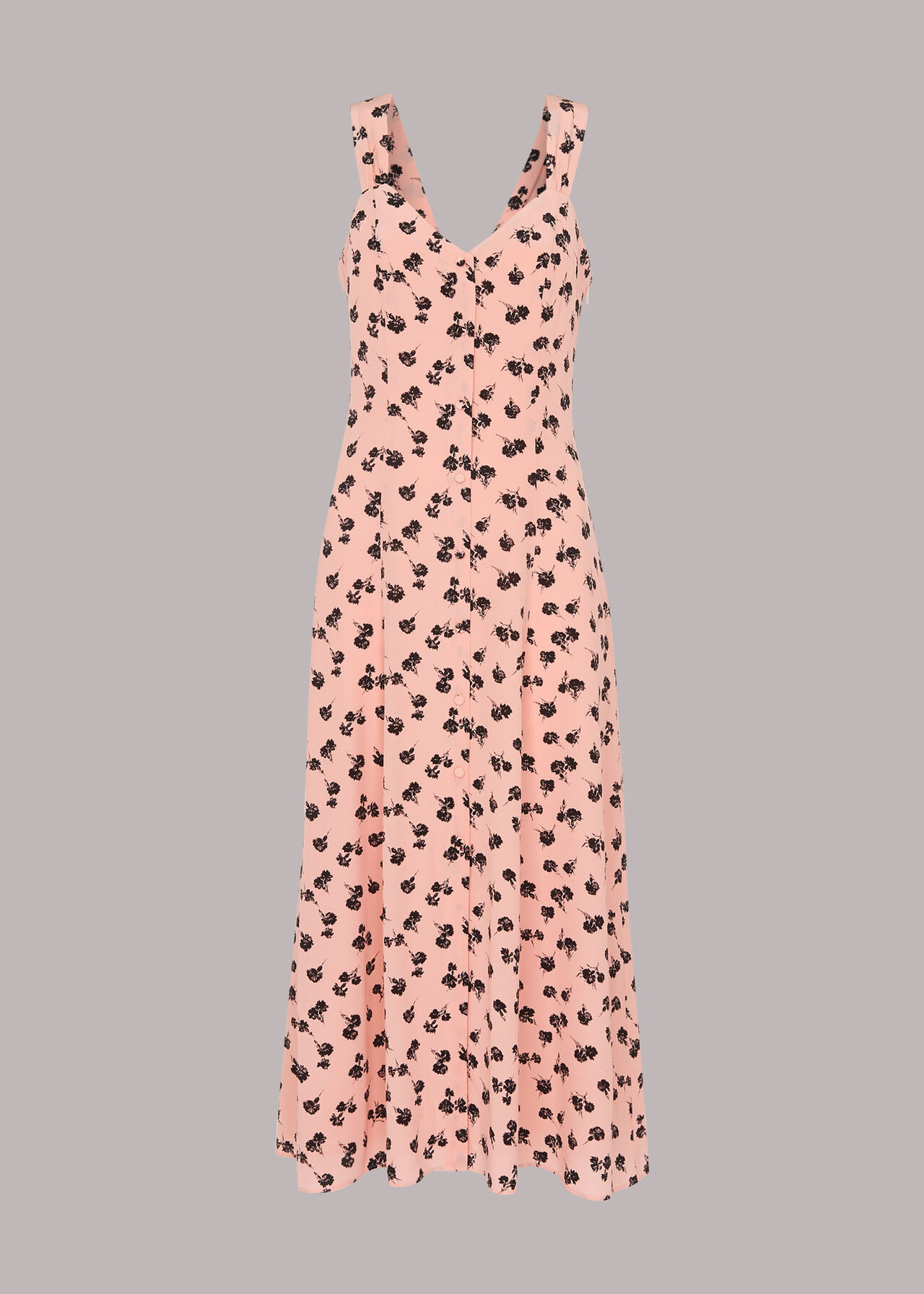 Scattered Carnation Midi Dress