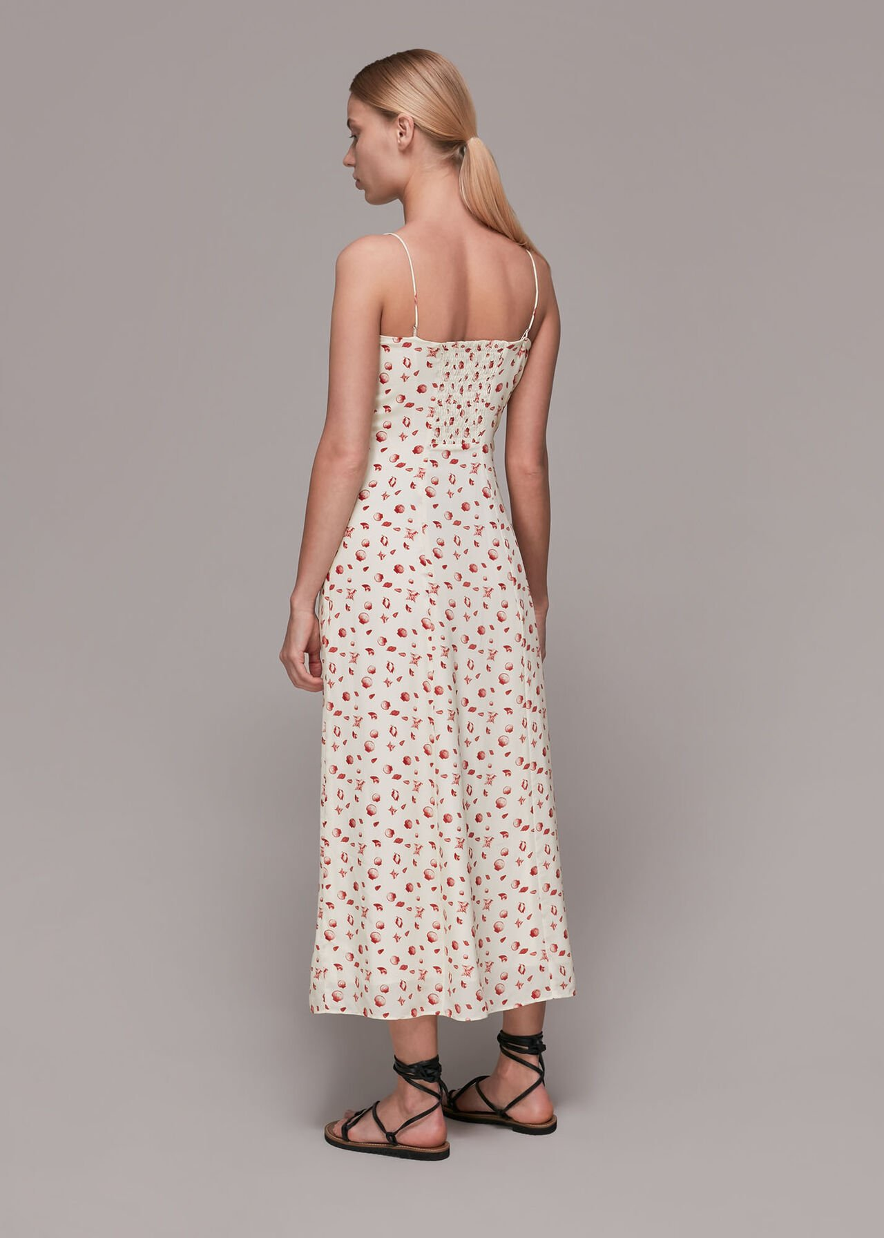 Sea Shell Silk Slip Dress