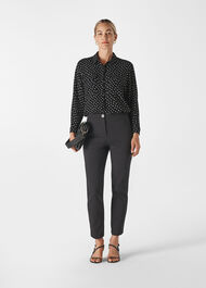Abstract Spot Selma Blouse Black/Multi