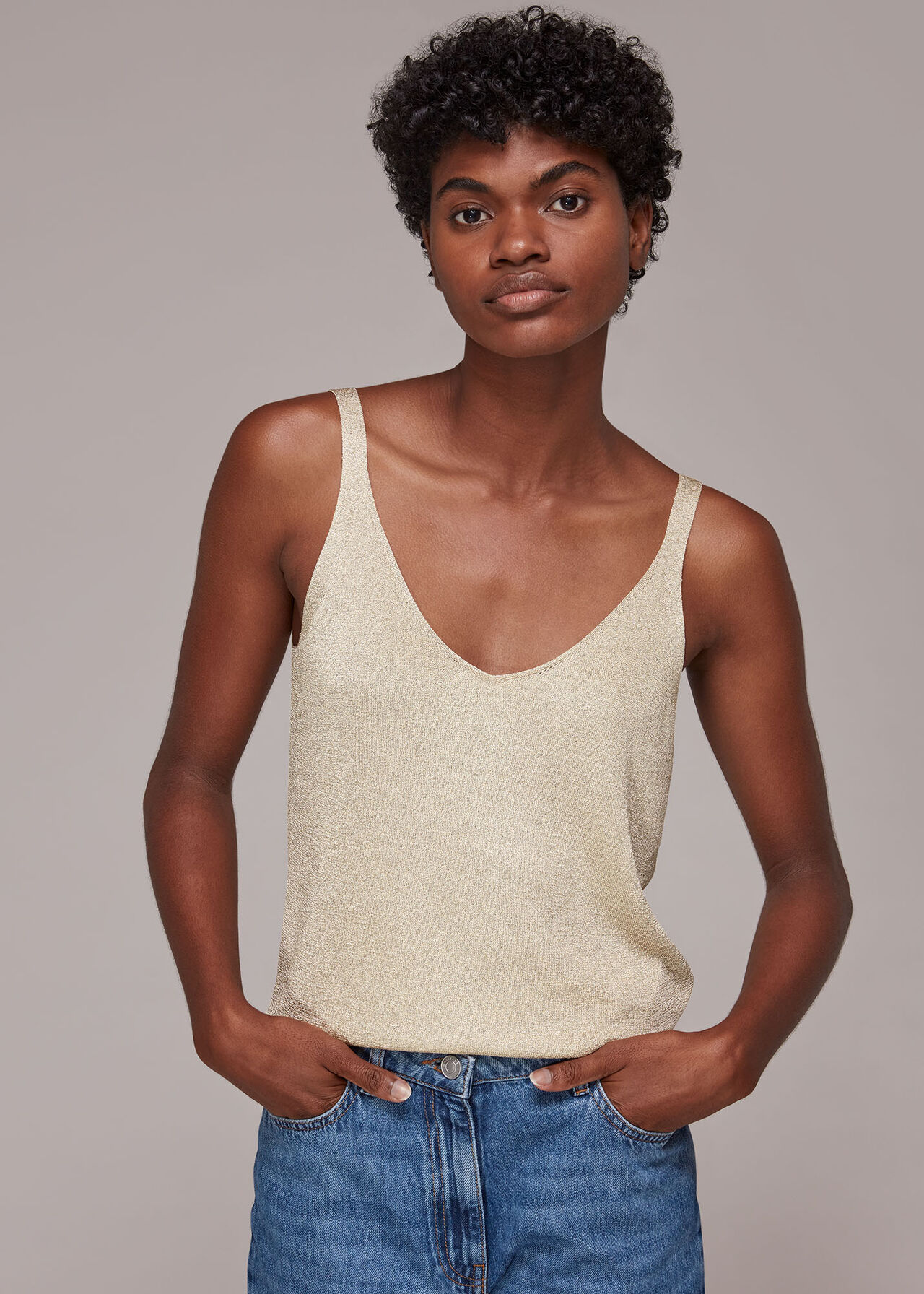 Sparkle Knitted Cami