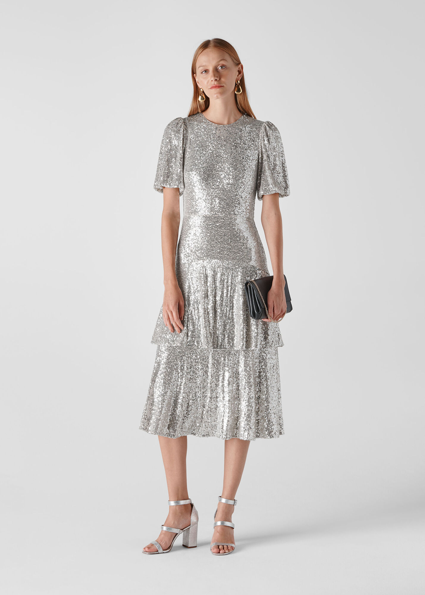 Arabelle Sequin Midi Dress