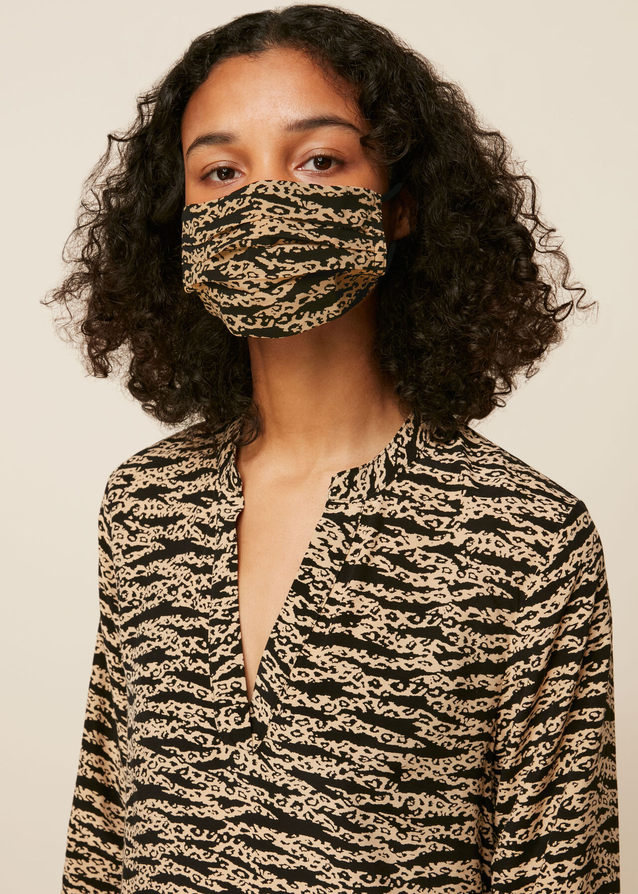 Tiger Leopard Face Covering