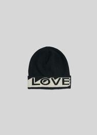 Green Thomas Love Hat Black/White