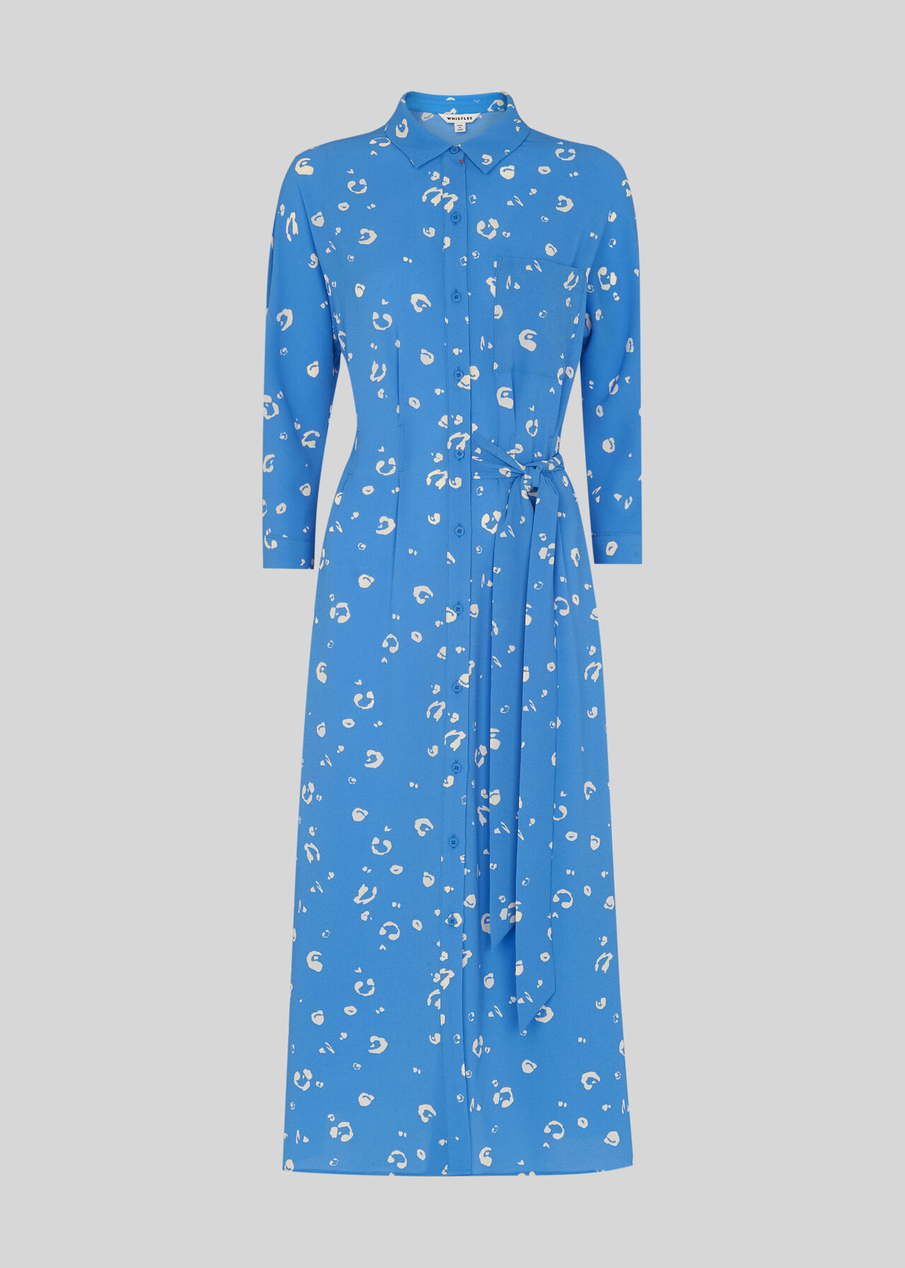 Watercolour Animal Dress Blue/Multi