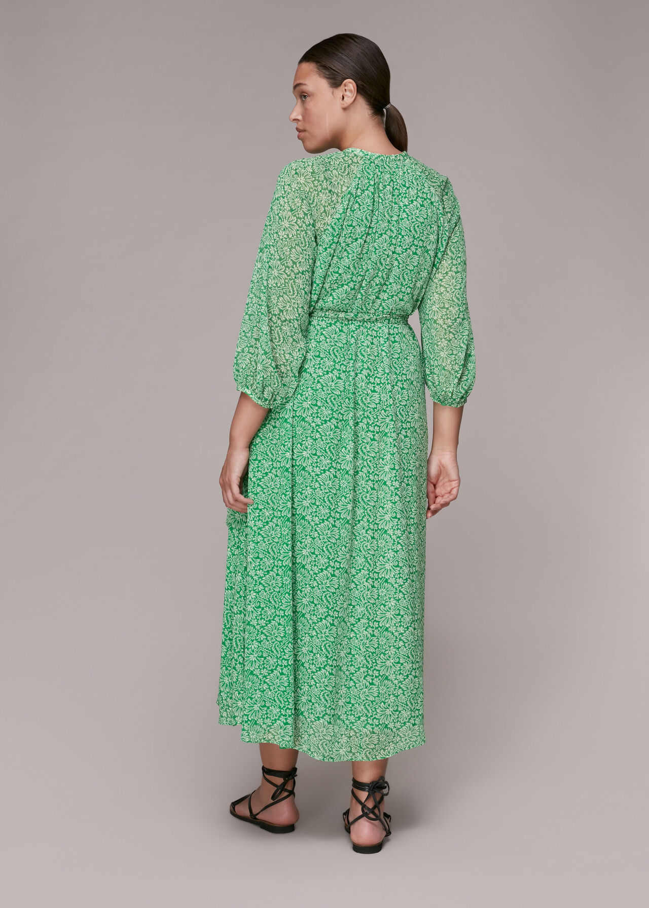 Indo Floral Trapeze Dress