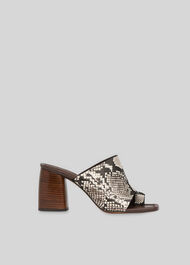 Acre Toe Loop Mule Snake Print