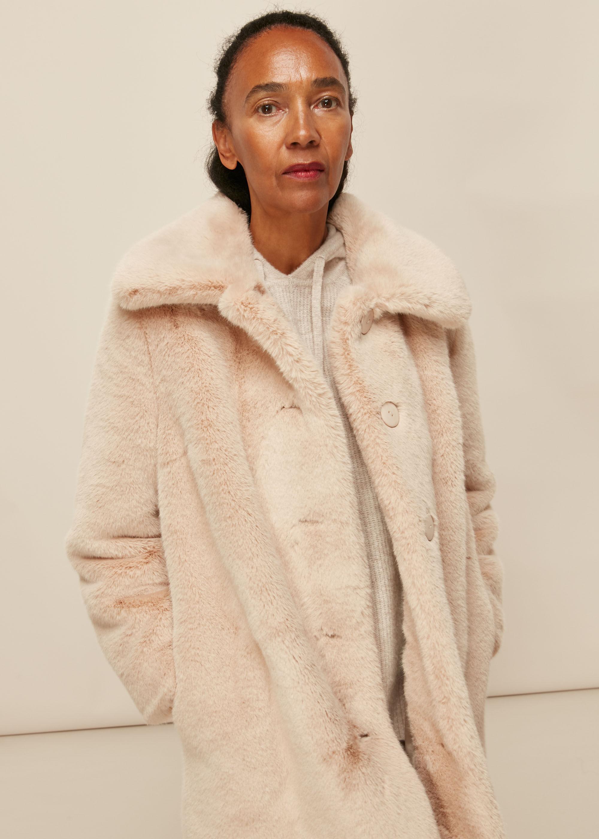Whistles Women Faux Fur Coat