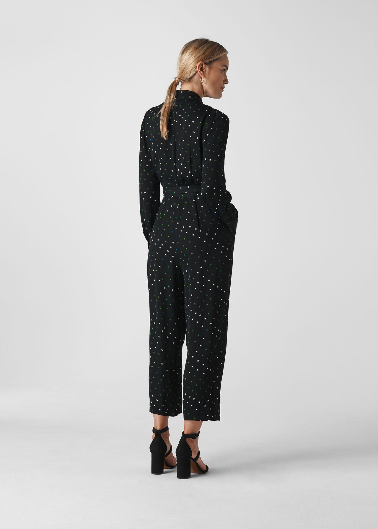 Star Print Jumpsuit Black/Multi