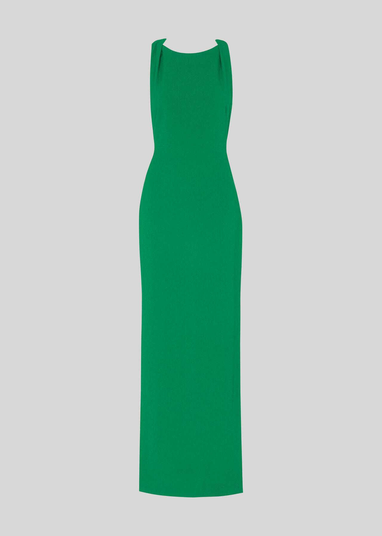 Tie Back Maxi Dress Green