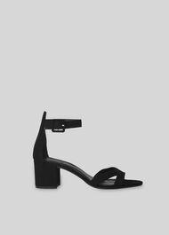 Marquis Block Heel Sandal Black